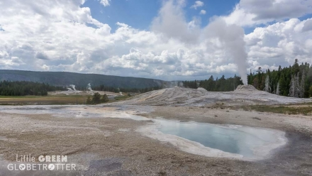 Geyser Erupting in Yellowstone National Park