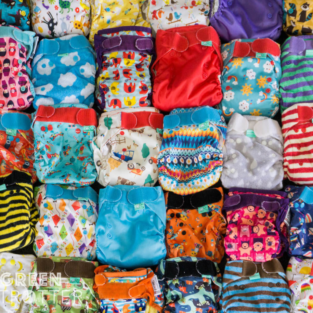 Reusable washable cloth nappies diapers nappy diaper. Collection of TotsBots EasyFit Star, Close Pop In, TotsBots Bamboozle and PeeNut Wrap, Baba+Boo Pocket Nappies and Milovia Pocket Nappies