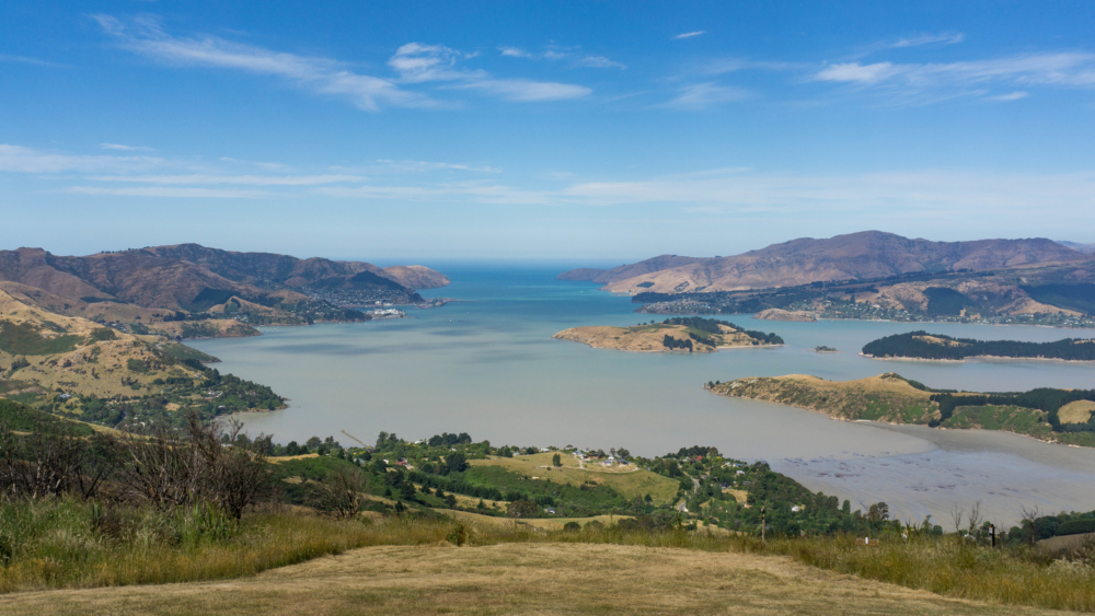 The perfect picnic location in Christchurch, New Zealand: the Port Hills overlooking Lyttelton Harbour. When we're packing for picnics, we like to use zero waste food storage, reusable straws and cups, and a sustainable lunch bag.